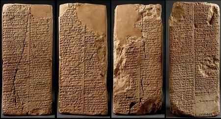 Lista de Reyes Sumerios - Prisma de Weld-Blundell desplegado
