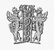 """Vaso de libaciones de Gudea"", Mesopotamia, s. XXII a.C. (Museo del Louvre) - Dibujo"