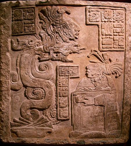 Kukulkán - Serpiente de la Visión (dintel 15 de Yaxchilán)