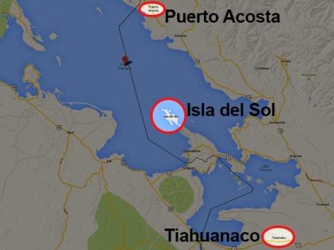 Mapa Titicaca