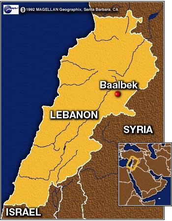 Baalbek Mapa