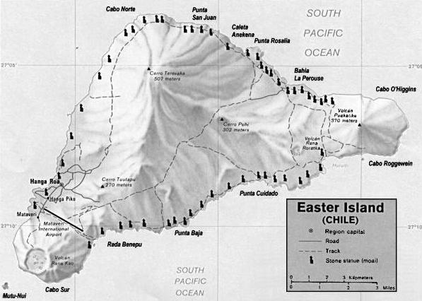 Mapa de Moais