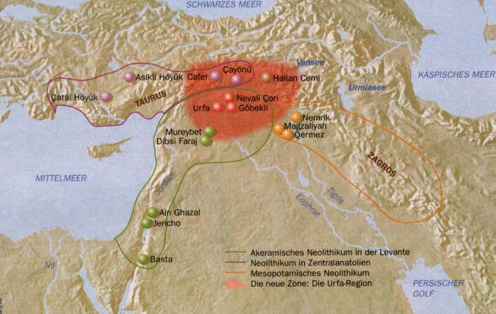 Mapa Gobekli Tepe
