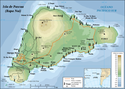 Isla de Pascua - Mapa