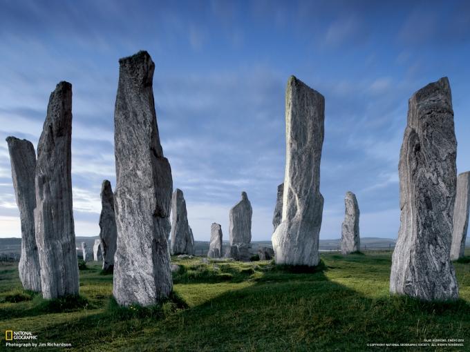 piedras de callanish - DOLMENES, CROMLECH, TÚMULOS Y MENHIRES