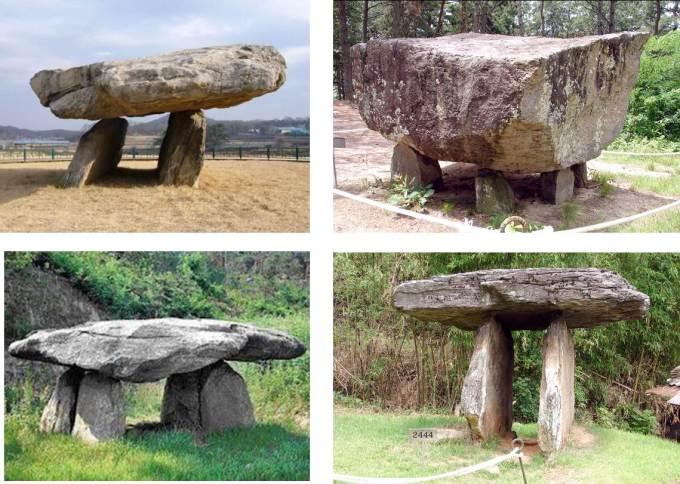collage 1 - DOLMENES, CROMLECH, TÚMULOS Y MENHIRES