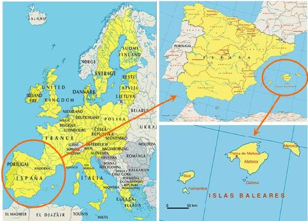 Mapa Baleares