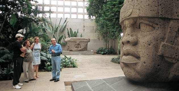 Sala museo antropologia de Xalapa