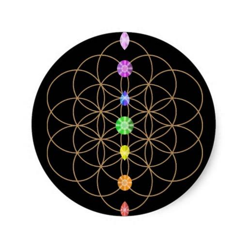 flor de las piedras coloreadas chakra - LA FLOR DE LA VIDA