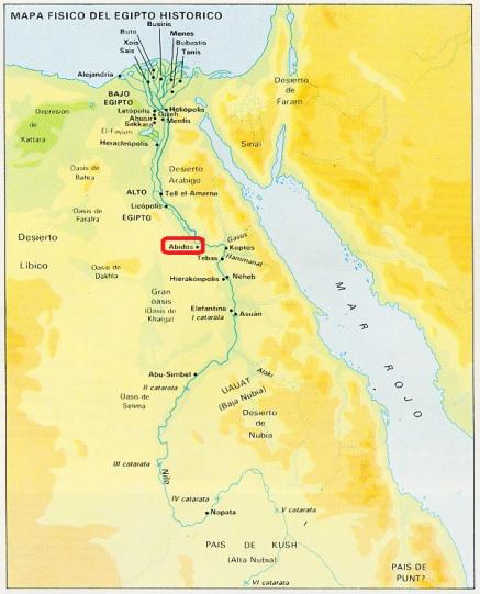 Mapa Egipto - Abidos
