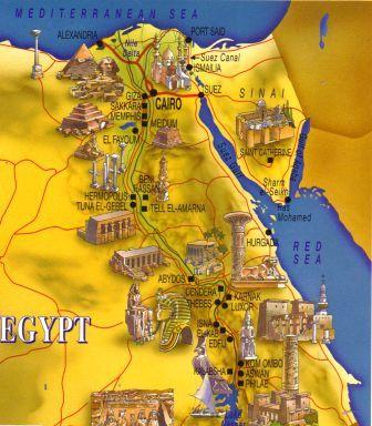 Mapa de Egipto Antiguo