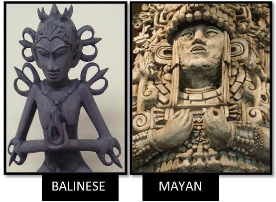 bali acintya god mayan stele prana hand yoga - Las Civilizaciones Paralelas