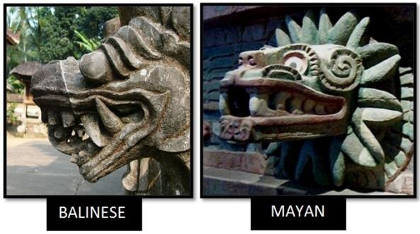 bali mayan serpent statues - Las Civilizaciones Paralelas