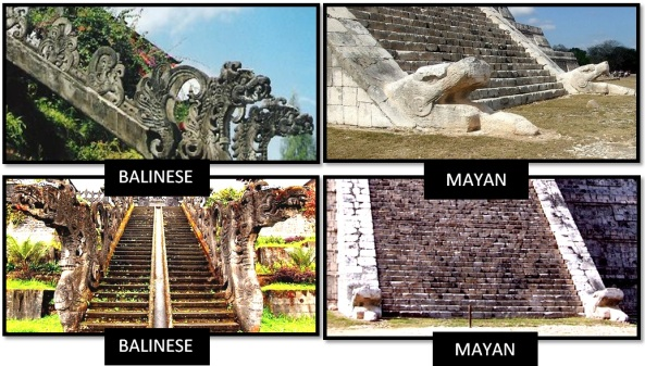besakih temple el castillo mayans balinese - Las Civilizaciones Paralelas