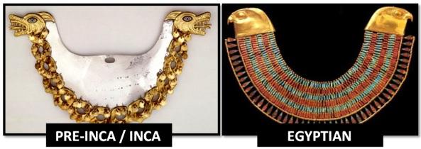 egyptian inca animal necklaces - Las Civilizaciones Paralelas