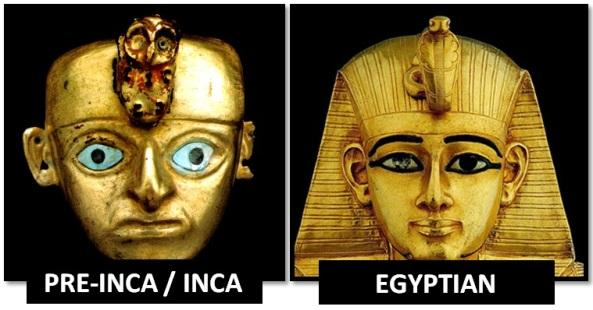 egyptian inca animal on forehead - Las Civilizaciones Paralelas