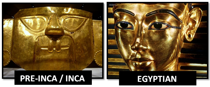 Egyptian-inca-gold-masks