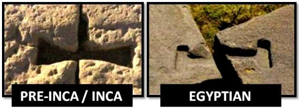 egyptian inca metal clasps - Las Civilizaciones Paralelas