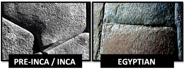 egyptian inca precision stonework - Las Civilizaciones Paralelas