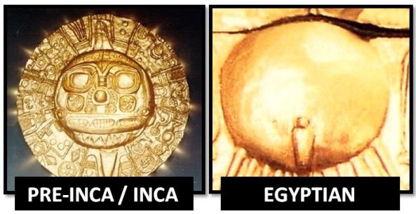 egyptian inca solar symbolism - Las Civilizaciones Paralelas
