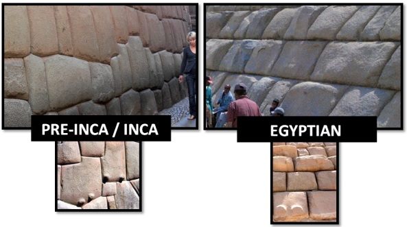 egyptian inca stone masonry - Las Civilizaciones Paralelas