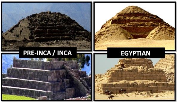 inca egyptian pyramids - Las Civilizaciones Paralelas