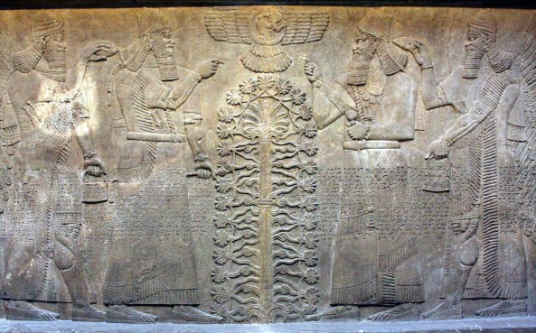 Relieve Asirio (King Ashurnasirpal s. IX BC)