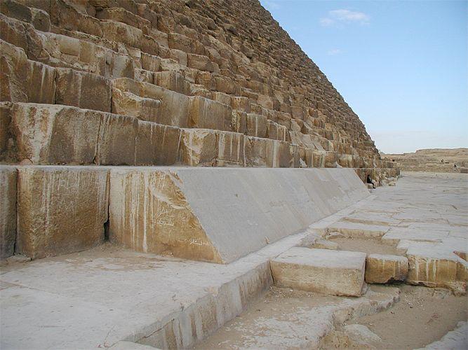 Revestimiento Pirámide de Khufu