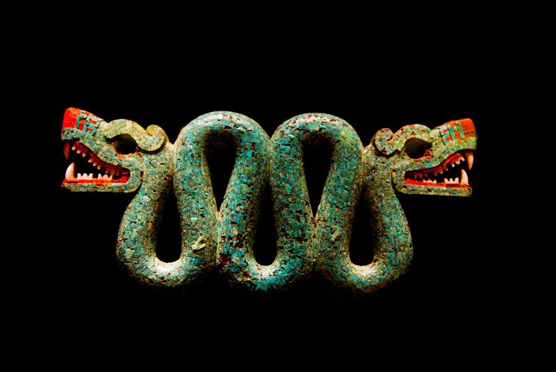 Serpiente bicéfala Azteca