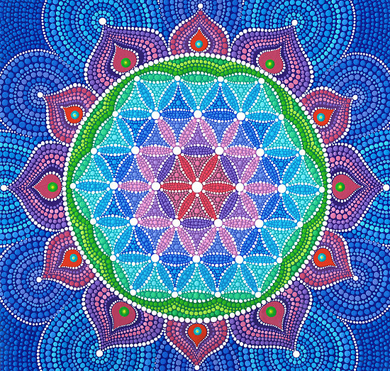flor de la vida en loto - LA FLOR DE LA VIDA