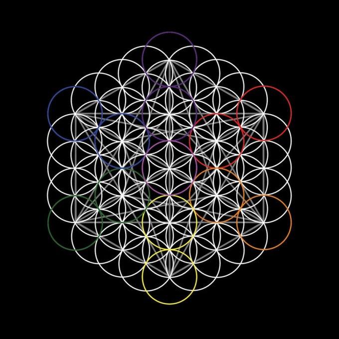 flower of life and metatron  s cube by joyscola d584wox - LA FLOR DE LA VIDA