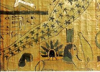Papiro llegada de Ra desde las Pléyades