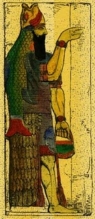lu-apkallu - Representación neo-asiria de un pez-apkallu ó suhurmasû s IX AEC