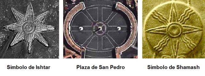 Ishtar, la Plaza San Pedro y Shamash