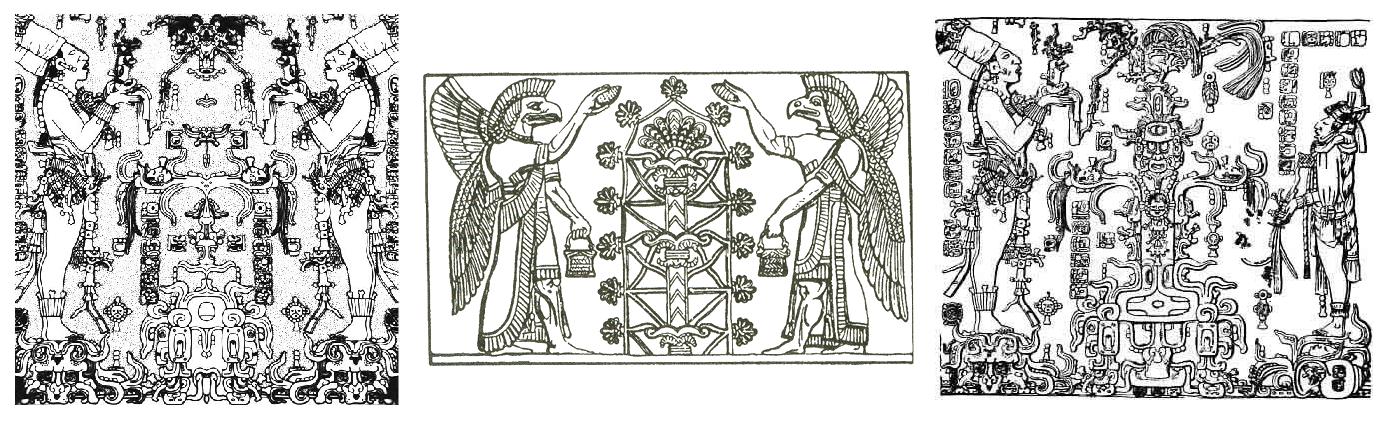 Tablets of the Temple of the Foliated Cross Panel del Templo de la Cruz en Palenque
