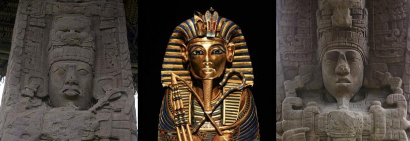 Tutankamón y la Estela D de Quiriguá