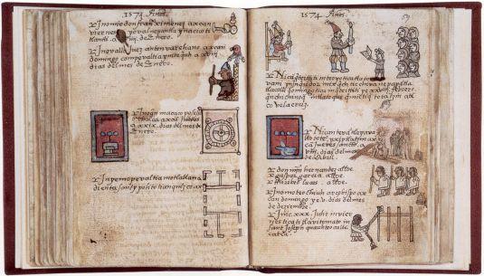 El Códice Aubin es un libro con la historia de la nación mexicana desde la salida de Aztlán hasta la llegada de los conquistadores españoles