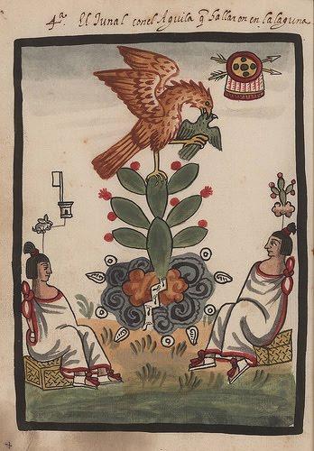 Códice mendocino - Aguila sobre el nopal
