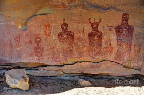 Indian petroglyphs and pictographs, Sego Canyon