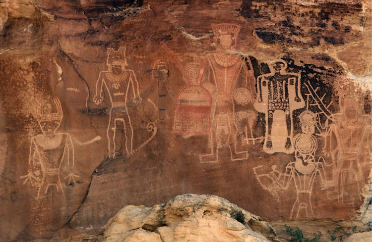 Panel of petroglyphs known as the
