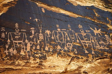 Butler Wash Petroglyphs - Shamans Panel