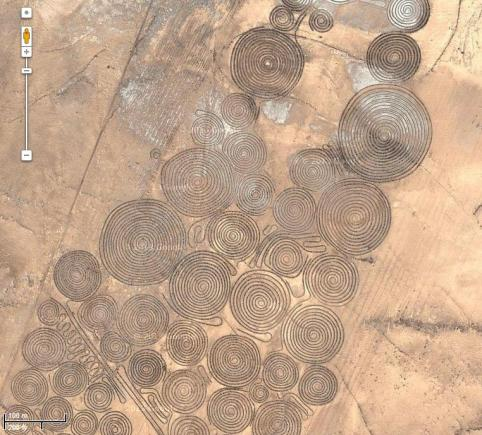 Espirales en desierto de Sudáfrica.