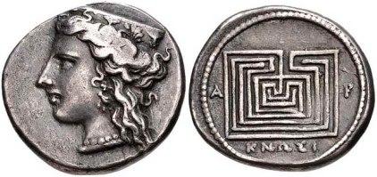 Monedas griegas, Knossos. 200-250ac (2)