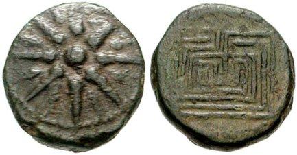 Monedas griegas, Knossos. 200-250ac