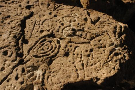 Motivos Grabados, Sitio Piedra Museo (Santa Cruz, Argentina)