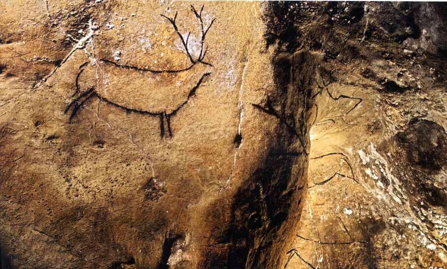 Conjunto del panel de los ciervos de Las Chimeneas