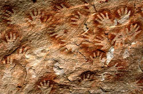 Anasazi Handprints - Rock Art, Canyonlands, Utah