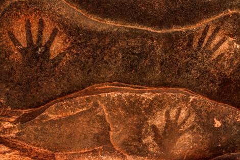 Ancient Anasazi Sandstone Hand Prints - Cedar Mesa - Utah