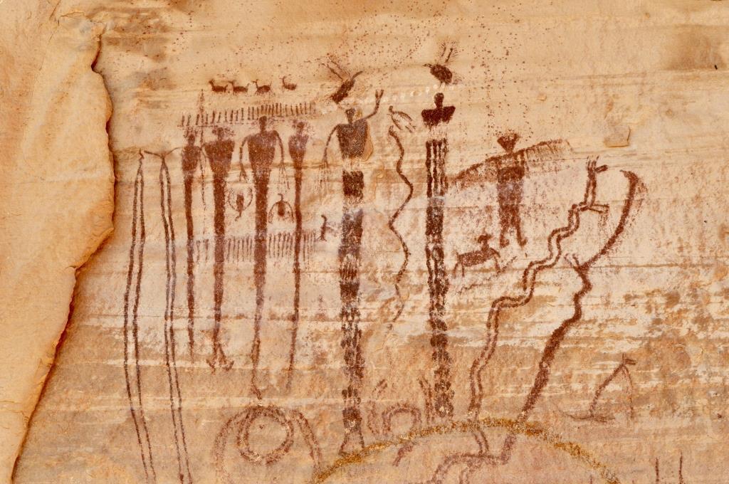 Buckhorn Wash - Right Panel Detail - Antropomorphic