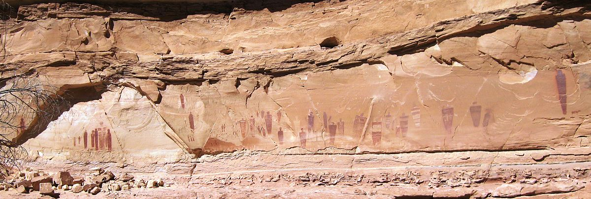 Horseshoe Canyon Great Gallery - Full Panel